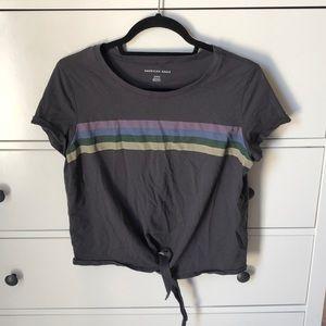 Tie front T-shirt